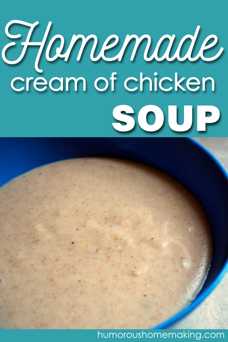 Making your own cream of chicken soup is so easy! Why wouldn't you do it? Skip the MSG and go for the good stuff!