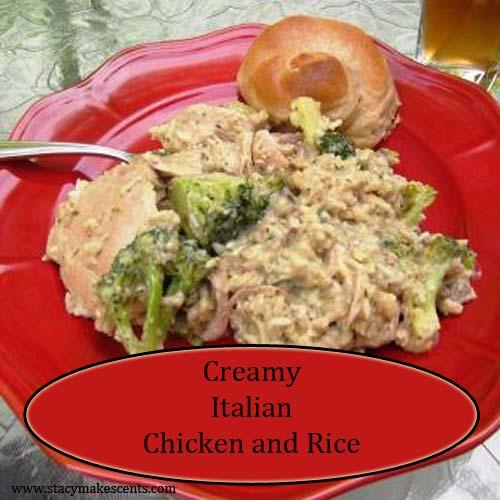 Crock Pot Creamy Italian Chicken Rice Casserole Humorous Homemaking