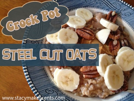 I love having this Crockpot Steel Cut Oatmeal ready for me when I wake up! Just prep it all the night before and let it cook overnight! Wake up to a delicious, hearty breakfast.