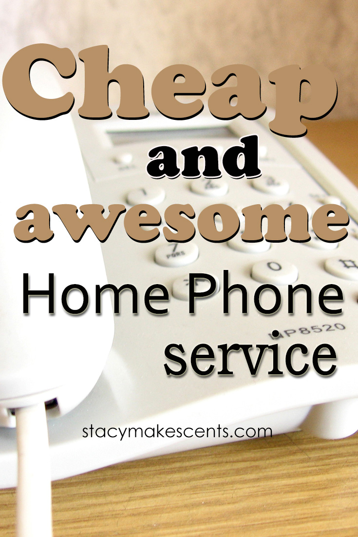 Cheap and Awesome Home Phone Service. We don't like to spend money on things unless we really find them valuable to us, and this one is extremely valuable!