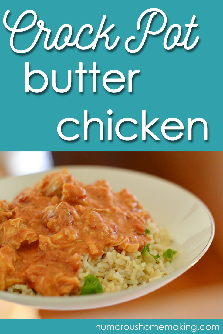 Trust me when I tell you that you won't even miss the butter in this Crockpot Butter Chicken! It's so tender when it's done that it's just like buttah!