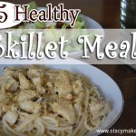 No need to search all over Pinterest to find dinner ideas! This list of 25 Healthy Skillet Meals gives you plenty of easy dinner ideas to feed the people!