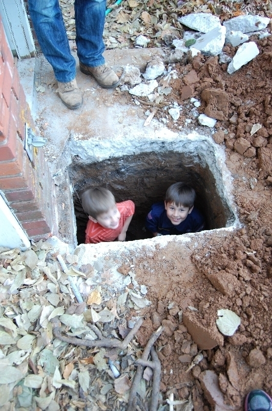 kids in hole