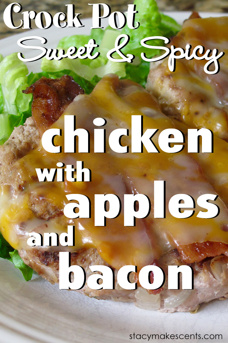 An Apple A Day, For Dinner! {Crock Pot Chicken with Apples and Bacon}