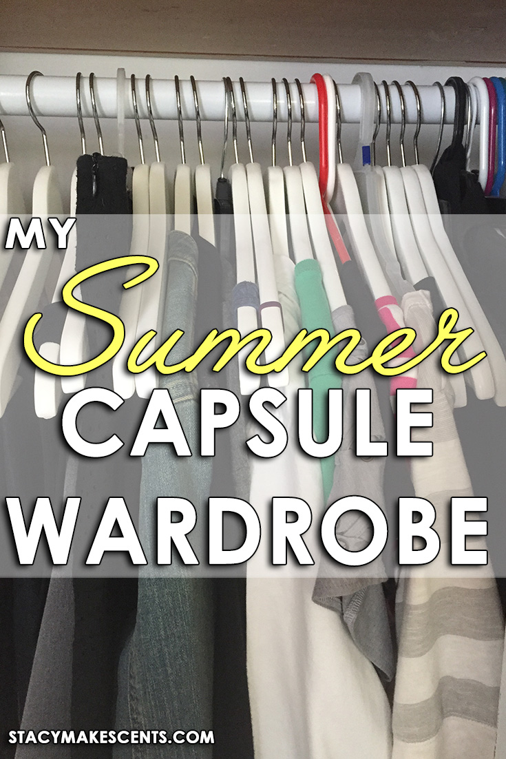 My summer capsule wardrobe. I used Project 333 as my jumping off point and added my own touches.