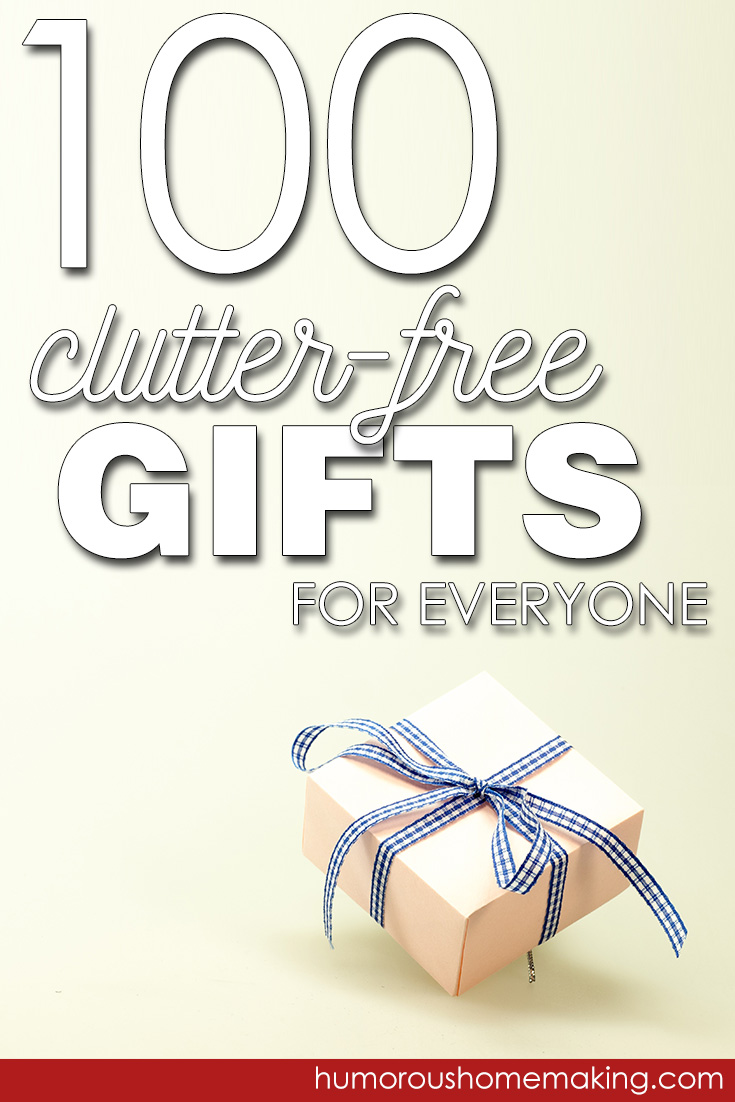 clutter free gifts