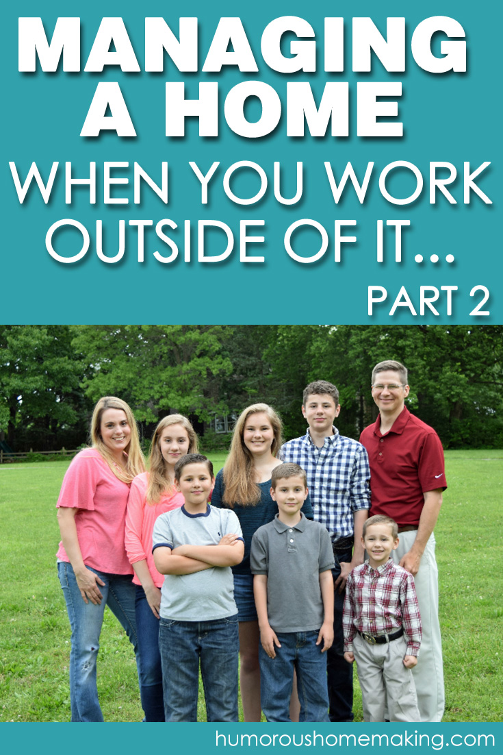 managing a home when you work