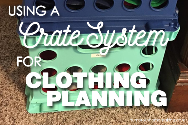 crate system for clothes