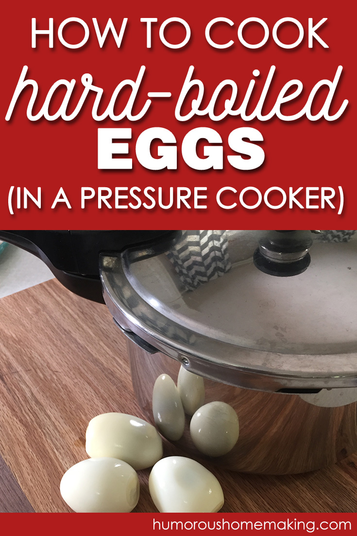 hard boiled eggs in the pressure cooker
