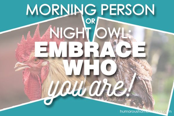 Morning person dating night owl