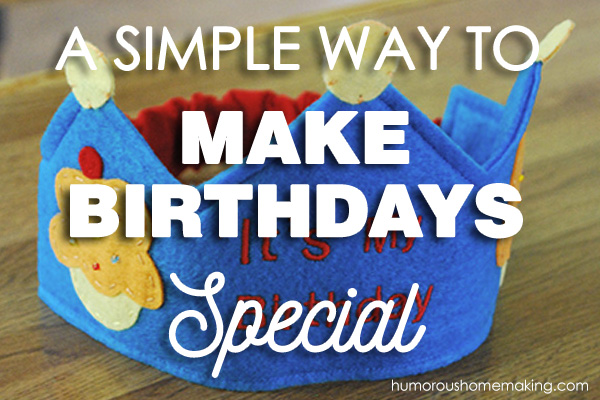 A Simple Way to Make Birthdays Special