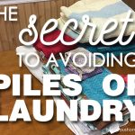 The Secret to Avoiding Laundry Piles