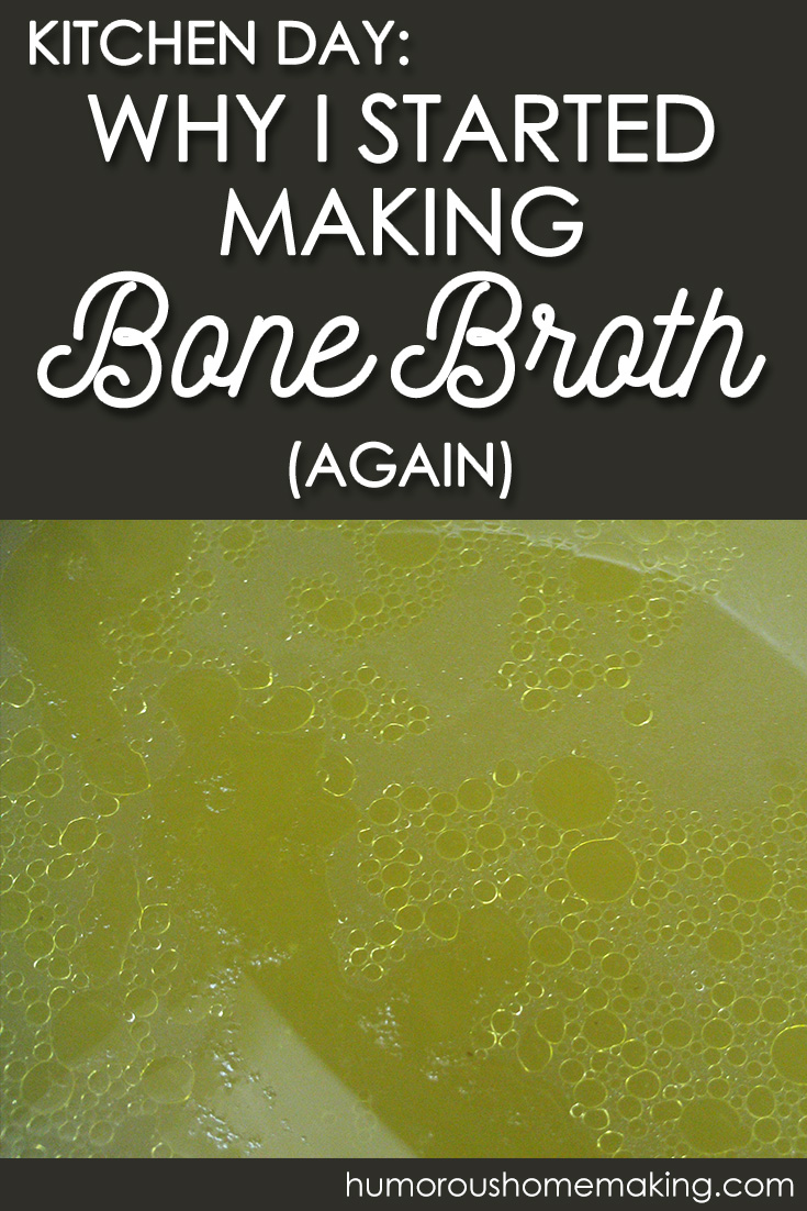 making chicken broth