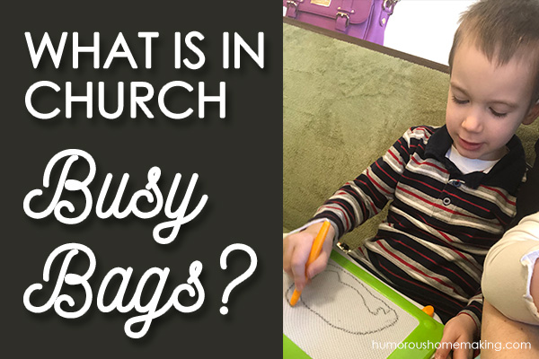 church busy bags