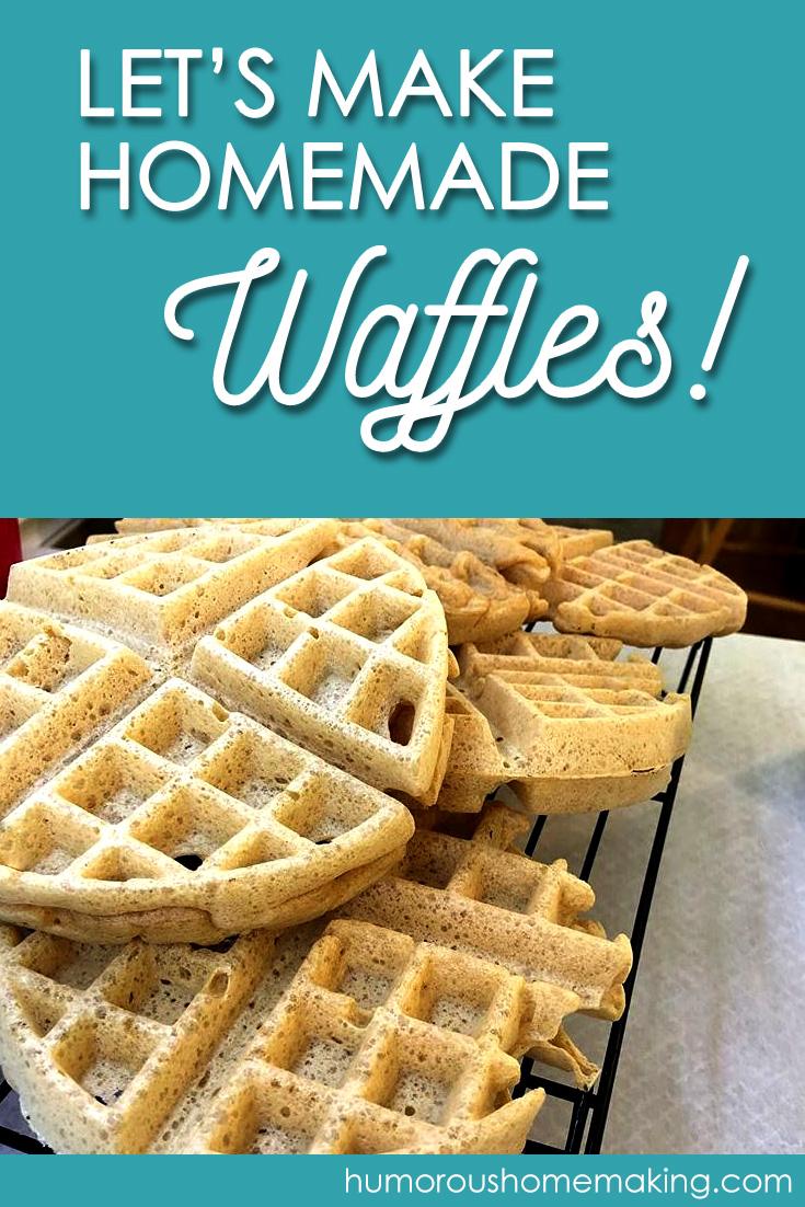 make homemade waffles