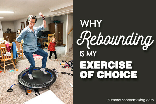 rebounding on a trampoline
