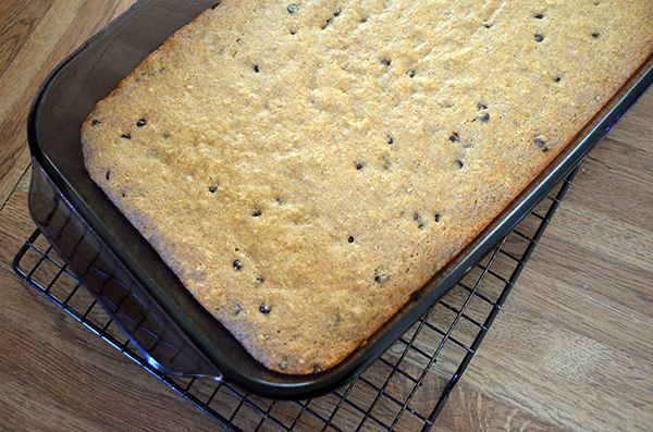 Chocolate Chip Banana Snack Cake - Whole Wheat with Honey