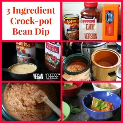 3 Ingredient Crock-pot Bean Dip