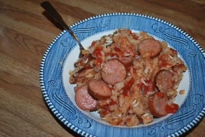 Crock Pot Spanish Rice with Sausage