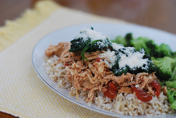 Crock Pot Red Chicken with Spinach