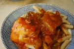 Crock Pot Chicken Cacciatore. Just throw everything in the crockpot for an easy dinner!