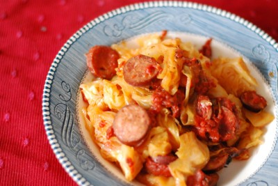 Italian Cabbage and Sausage
