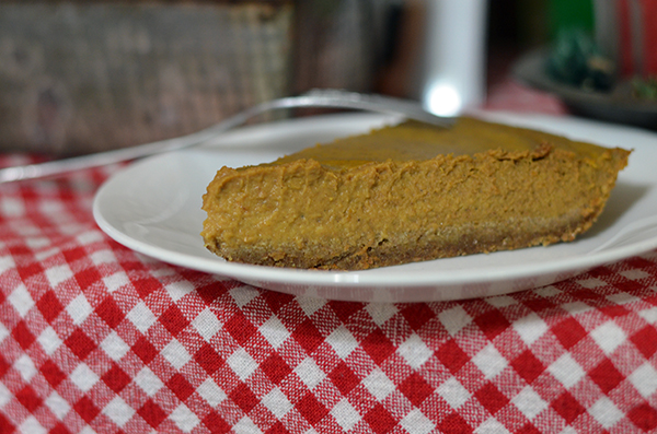 Your non-gluten free friends will never know the difference in this pumpkin pie with a gluten free crust! They'll be too busy eating the yummy pie!