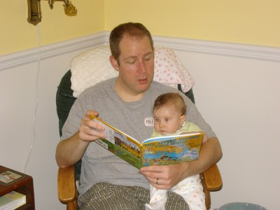 Reading to Annie