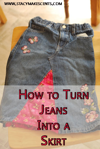 How To Turn A Garage Into A Bedroom: How To Turn Jeans Into A Skirt