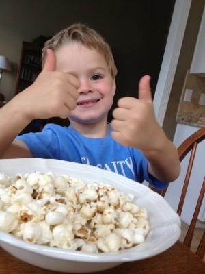 sam and popcorn